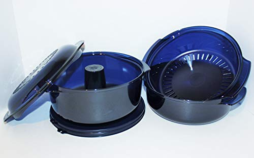 Tupperware Microwave Stack Cooker 7pc Cooking Set Nocturnal Blue