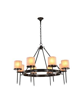 Pendants 8 Light With Bronze Finish E12 Bulb 45 inch 320 Watts - World of Classic