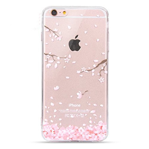 Geekmart Clear Soft Floral Silicone Back Cover for 5.5 inches Perfect for iPhone 6 Plus/iPhone 6s Plus