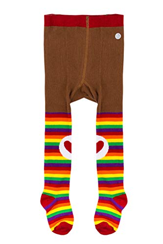 Baby Bling Care Bears Knit Tights for Baby Girls Leggings - Primary Rainbow ()