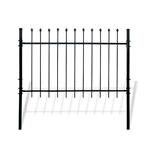 ALEKO DWGF5X5 DIY Steel Fence Panel Kit Athens Style 5 x 5 ()