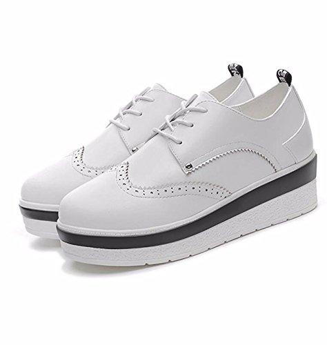 Unique Pendant Femmes 5cm Khskx Printemps Nouvelles 36 Ronde Chaussures Blanc De Le Plat Épais Et Gâteau À L'automne Fille Tête qvwnTxEwR