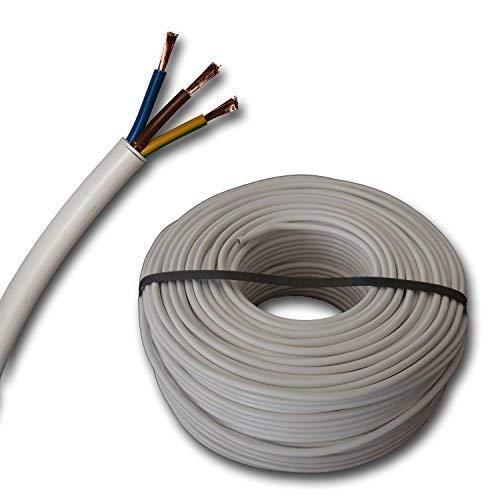 /3/x 0,75/mm/²/ /25/m /Blanc/ Tuyau flexible H03VV-F C/âble 3/G0,75/mm/²/