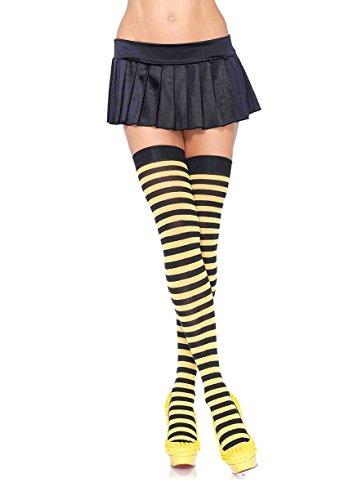 Leg Avenue Womens Nylon Striped Stockings -