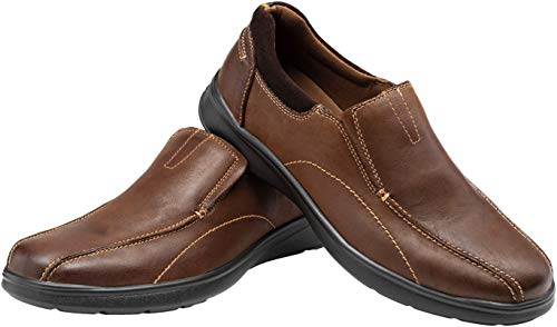 Pictures of JOUSEN Men's Loafers Leather Casual Slip On Shoes varies 2