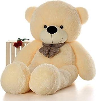 b3423a905 Buy KR Toys 5 feet Cream high Quality Teddy   Valentine Teddy   Anniversary  Gift Teddy  Teddy for Girlfriend   Cute Teddy - 152 cm (Cream) Online at  Low ...