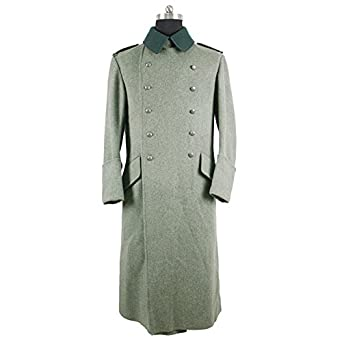 Men's Vintage Style Coats and Jackets WW2 German M37 Wool Great Coat $150.49 AT vintagedancer.com