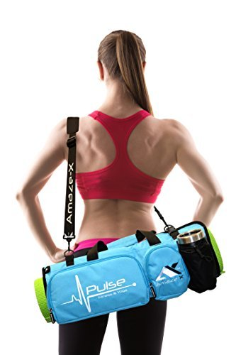 AmazeX Fitness & Yoga Mat Bag For Best Customers Bright Fashionable Sports and Multifunctional Gym Bag with Open Ends 5 Pockets Bottle Holder Keeps Mat Dry and Odorless