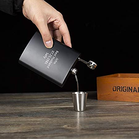 Albertband Petacas Petaca Alcohol personalizados Copa de vino,8oz. Juego de matraces de 227ml Adecuado para llevar whisky,vodka,hija,hijo a papá (Petaca)