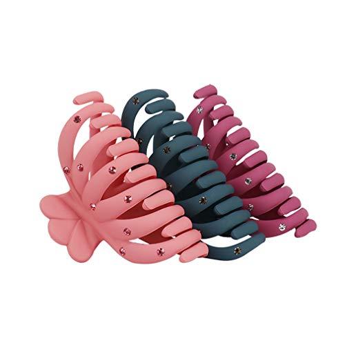 Phniti Haarklammer Haarspangen Haargreifer Haarnadel für Frauen Damen, Starker Halt für Dickes Haar (3er Pack)