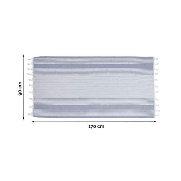 ZOLLNER Telo Mare Blu in Tanti Colori 100/% Cotone 90x170 cm
