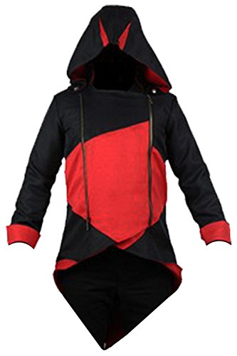 Anime Cosplay Customes Windbreaker Long Sleeve Costume Jacket (Assassin Creed Outfit)