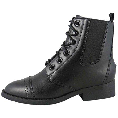 Smoky Mountain Boots English Girls Lace up Paddock 2 Child Black 3008 ()