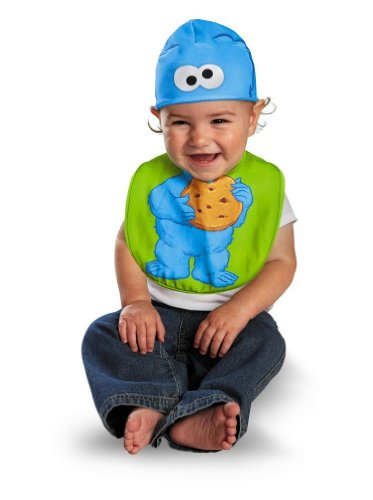 Cookie Monster Bib & Hat Baby Infant Costume - -