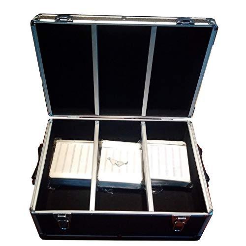 MegaDisc Black 510 Aluminum Like CD DVD Blu-Ray Storage Case Box with Hanger Sleeves ()