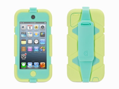 Griffin Lime/Mint Survivor All-Terrain Case + Belt Clip for iPod touch (5th/ 6th gen.) - Extreme-duty case Griffin Ipod