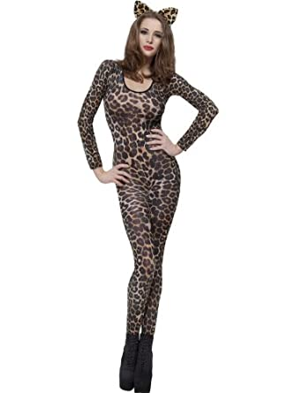 Fever Women's Cheetah Print Bodysuit In Display Box Multi One Size Fever Costumes 26811