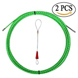 Fish Tape Electrical Wire Threader Wire Puller Through Wall Fish Threader plus Fish Cable Fastener with Steel rope 40FT(12M)