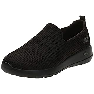 Skechers mens Go Walk Max-athletic Air Mesh Slip on Walking Shoe Sneaker, Black, 7.5 US