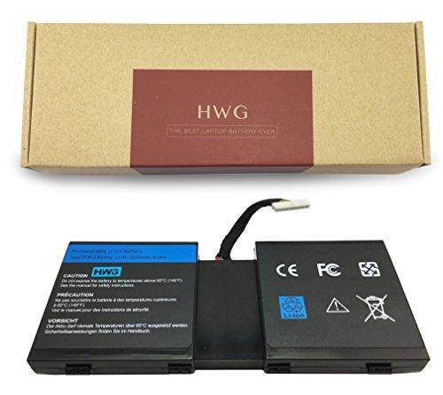 HWG 2F8K3 Battery Compatible Dell Alienware 17 18 18x M17X R5 M18X R3  Series Laptop, Fits P/N 2F8K3 02F8K3 KJ2PX 0KJ2PX G33TT 0G33TT (14 8V 83WH)