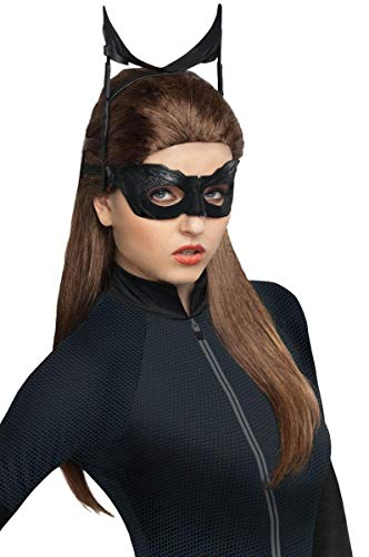 Secret Wishes Batman Dark Knight Rises Catwoman Wig, Black, One Size ()