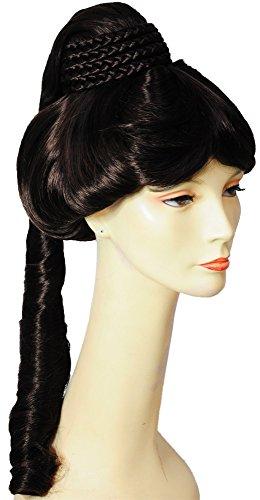 Morris Costumes Jeannie Deluxe Wig M C Brown 6 ()