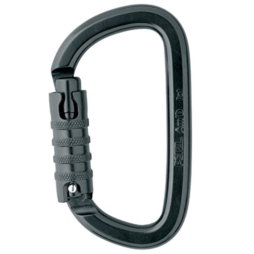 PETZL AM'D TRI-ACT carabiner Black M34TLN with FREE 5 yards of 1