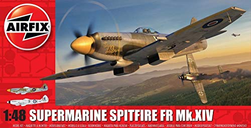 Airfix Supermarine Spitfire FR MK XIV 1:48 Military Aviation Plastic Model Kit A05135
