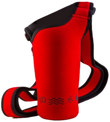 Bottle Carrier Holder - NEOSLING, Adjustable Neoprene Bottle Holder, Racecar Red