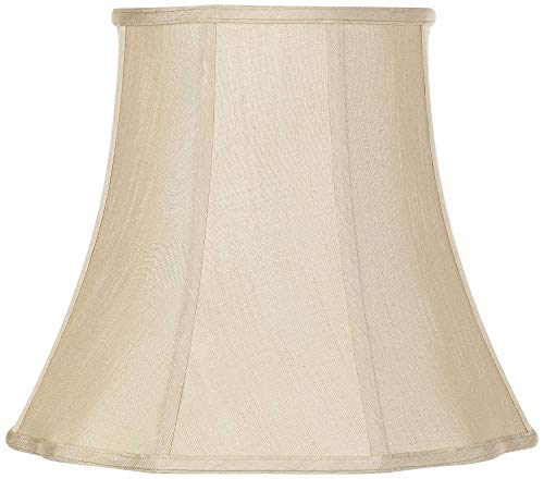 Imperial Taupe Bell Lamp Shade 10x16x14 (Spider) - Imperial Shade