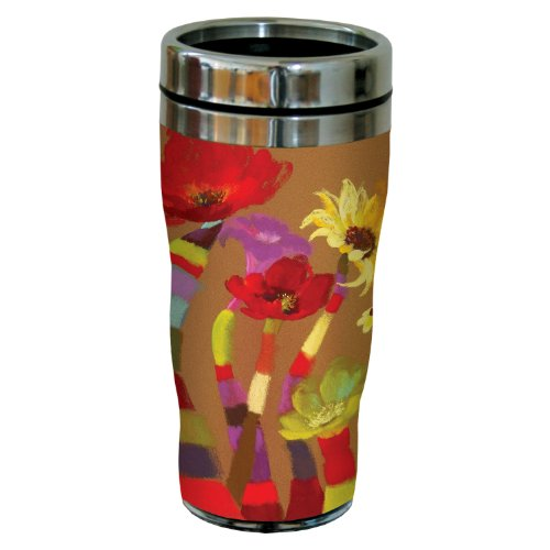 Tree-Free Greetings sg23693 Floral Fantasy by Nel Whatmore Travel Tumbler, 16-Ounce