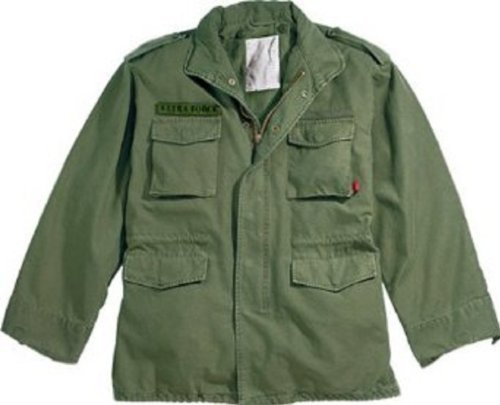 - Authentic Military Vintage M-65 Field Jacket, Olive, 3XL