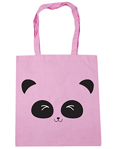 10 x38cm litres cute Gym panda Pink 42cm HippoWarehouse Bag Beach Shopping Classic Tote face znvnxBP