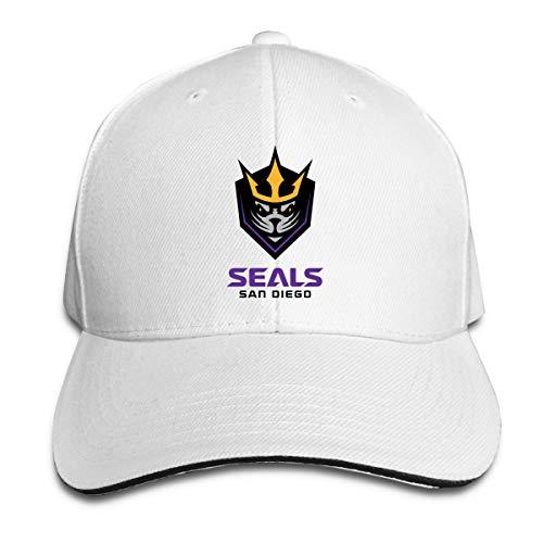 Bonnet Seal - San Diego Seals Lacrosse Unisex San Diego Seals Lacrosse Comfortable, Breathable, Handsome Sunbonnet White