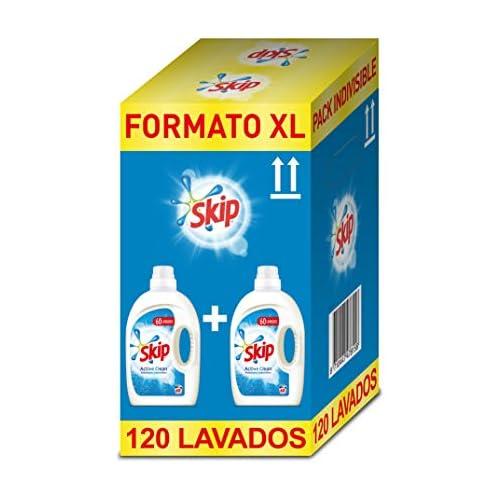 chollos oferta descuentos barato Skip Active Clean Detergente Líquido para Lavadora Paquete de 2 x 60 lavados Total 120 lavados