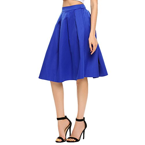 - Chigant Women's A Line Short Knee Length Party Skirt