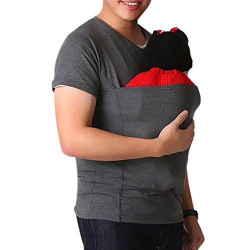 WensLTD Unisex Cat Hoodie With Cuddle Pouch Dog Pet Hooded Casual Kangaroo Sweatshirt (M, Dark Gray-1)]()