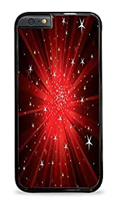 Amazing holding Light Rays Stars Red Design Print Cover Black Hardshell Case for iPhone 6+ (5.5) said as Lorenzof Case