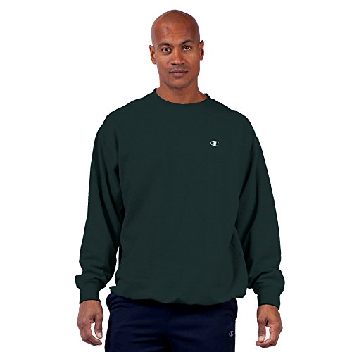 Crewneck Sweaters - Champion Men's Big & Tall Fleece Crewneck Pullover Sweatshirt (5XL, Forest Grove)