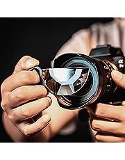 Kaleidoscope Filter Handheld Semicircle Kaleidoscope Special Effects Filter Camera Accessories Glass Prism Special Effects Filter (80mm)