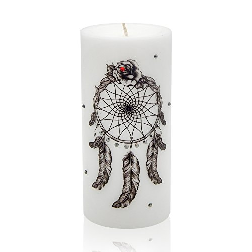 Tattoo Candle - Tattoo Candles Sam & Wishbone Art Collection (Dream Catcher) (Brooklyn Light T-shirt)