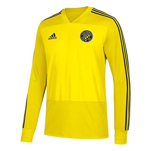 adidas Columbus Crew SC MLS Men's Yellow Climacool Long Sleeve Team Color Training Jersey (M)