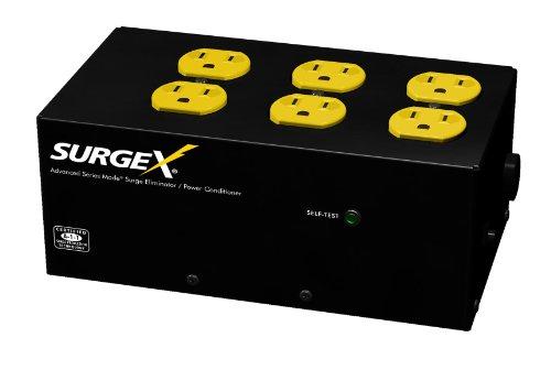 SurgeX SA-966 Standalone Surge Eliminator - 8A / 120V, 6 outlets