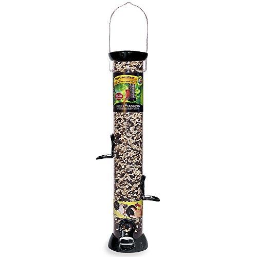 Droll Yankee Sunflower Bird Feeder (Droll Yankees Bird Feeder, Sunflower Hanging Tube Bird Feeder, Onyx Clever Clean CC18S, 18 Inch, 4 Feeding Ports)