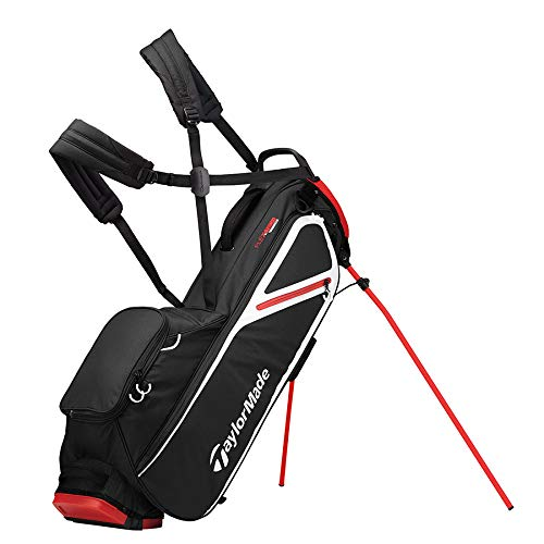 TaylorMade 2019 Flextech Lite Stand Golf Bag, Black/Blood Orange