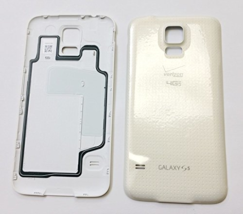 OEM Battery Door Back Cover Replacement for Samsung Galaxy S5 SM-G900V Verizon - White - Galaxy S5 Back Door Case