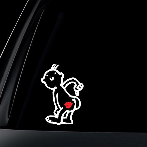 World Design Kiss My Ass Car Decal/Sticker - 6