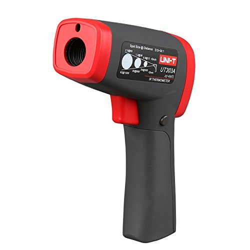 UNI-T UT303A Infrared Thermometer -32°C~650°C/-26°F~1202°F 30:1 Resolution 0.1°C/0.1°F Adjustable Emissivity MAX/MIN/AVG/DIF Display