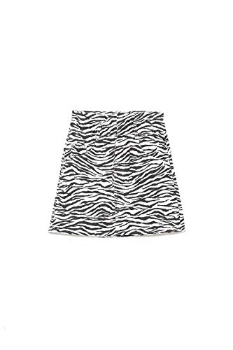 Zara TRF Collection Zebra Print Mini Skirt (X-Small) White Black