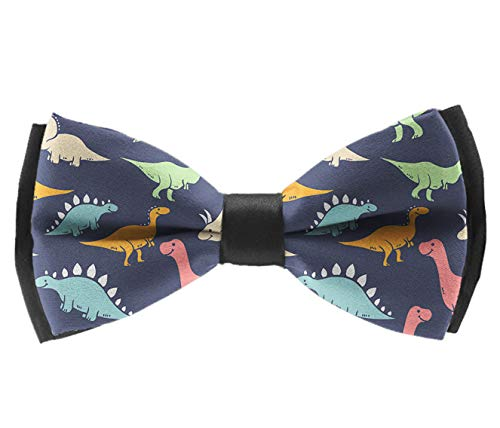 Pre-Tied Fashion Bow Ties, Funny Dinosaurs Neck Band Ties Formal School Uniform Butterfly Bow Tie For Adults & Children - Suit Accessories, Banquet Wedding ()